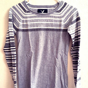 Fitted American Eagle Crew Sweater